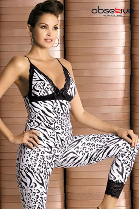 Lingerie Zebra top and pants S/M